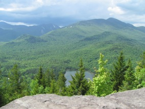 Beautiful view from the summit of Mt. Jo.  You can see Marcy, Colden, and Algonquin in the background.