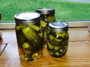 My homemade pickles