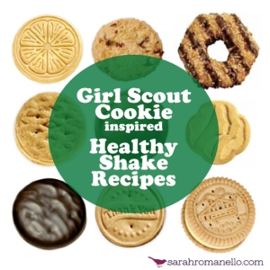 I love me some Girl Scout cookies. Even more when it's my healthiest meal of the day!